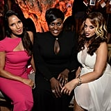 Padma Lakshmi mingled with Danielle Brooks and Dascha Polanco on Saturday.