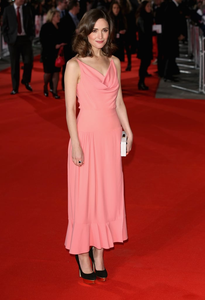 Rose Byrne was pretty in pink at the London premiere of I Give It a Year on Jan. 24.