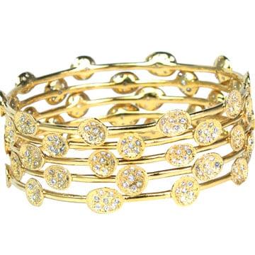 Mini Pod Bangle, White Diamond cz   Melinda Maria Jewelry   $115.00