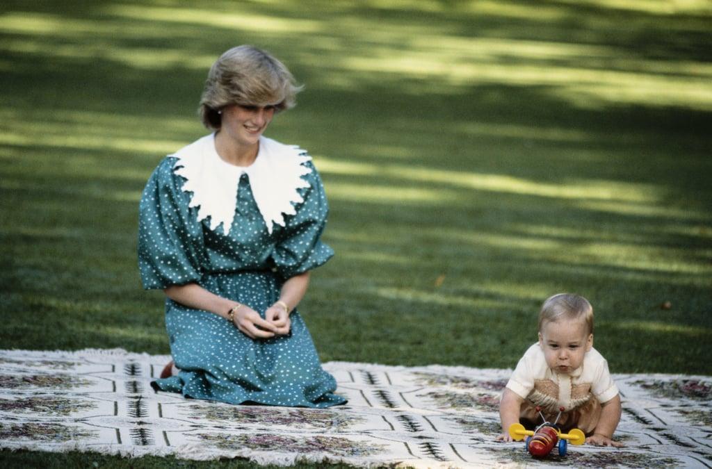 Princess Diana's Green Polka-Dot Dress