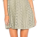 J.O.A. Off-the-Shoulder Sleeve-Tie Lace Dress