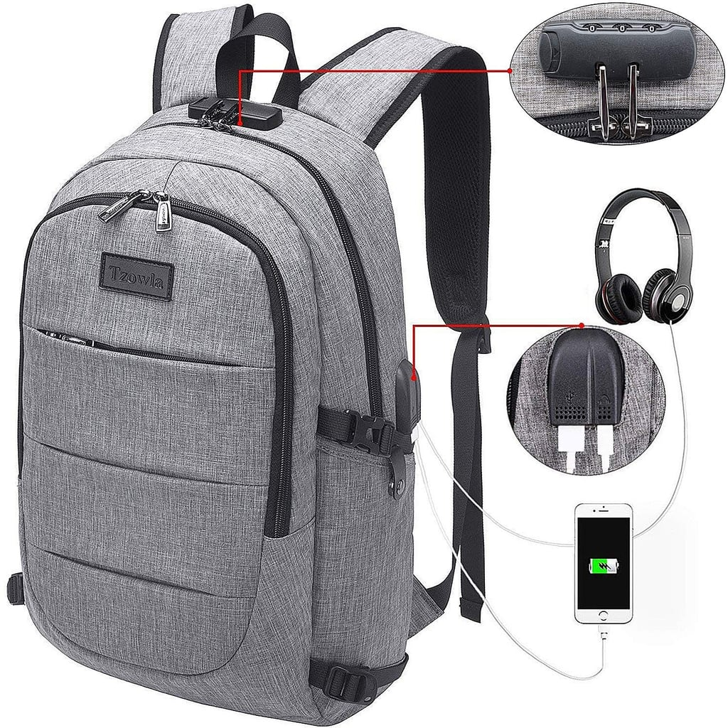 Tzowla Business Laptop Backpack Water Resistant Anti-Theft Backpack