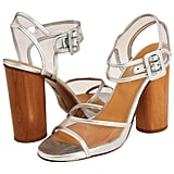 Kill two trends with one shoe — these sandals take care of the wooden wedge and the transparent trends.  Robert Clergerie Saphir Heels ($200)