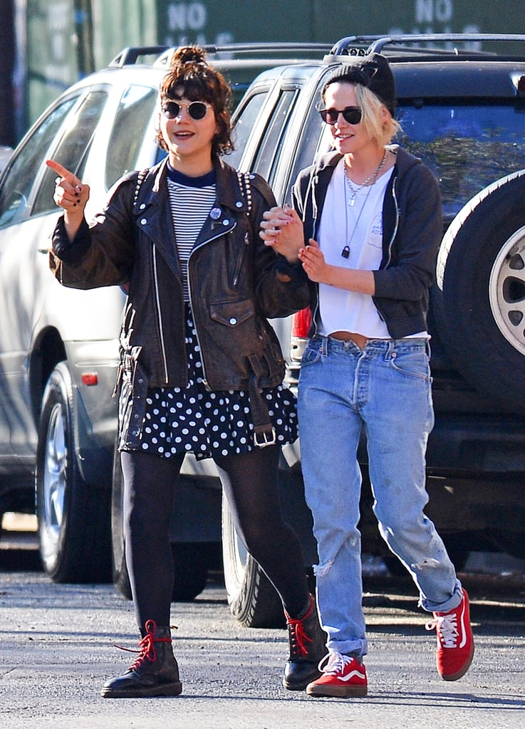 """On Tuesday, Kristen Stewart and Soko were spotted holding hands while out on a stroll in NYC. The ladies, who were first linked back in March, donned matching casual looks, and Kristen even showcased a new blond 'do. Later that evening, the duo stepped out yet again, only this time they wore different outfits. Despite Soko previously revealing that she once dated Kristen's ex-boyfriend, Robert Pattinson, it looks as though these two are still going strong. In addition to recently heating up Paris with their flurry of PDA-filled outings, the 30-year-old French singer spoke about her relationship with the actress for the first time last month, admitting that the way she met Kristen was """"very OG."""" Keep reading for more of the low-key outing, and then get to know Soko in five quick facts."""