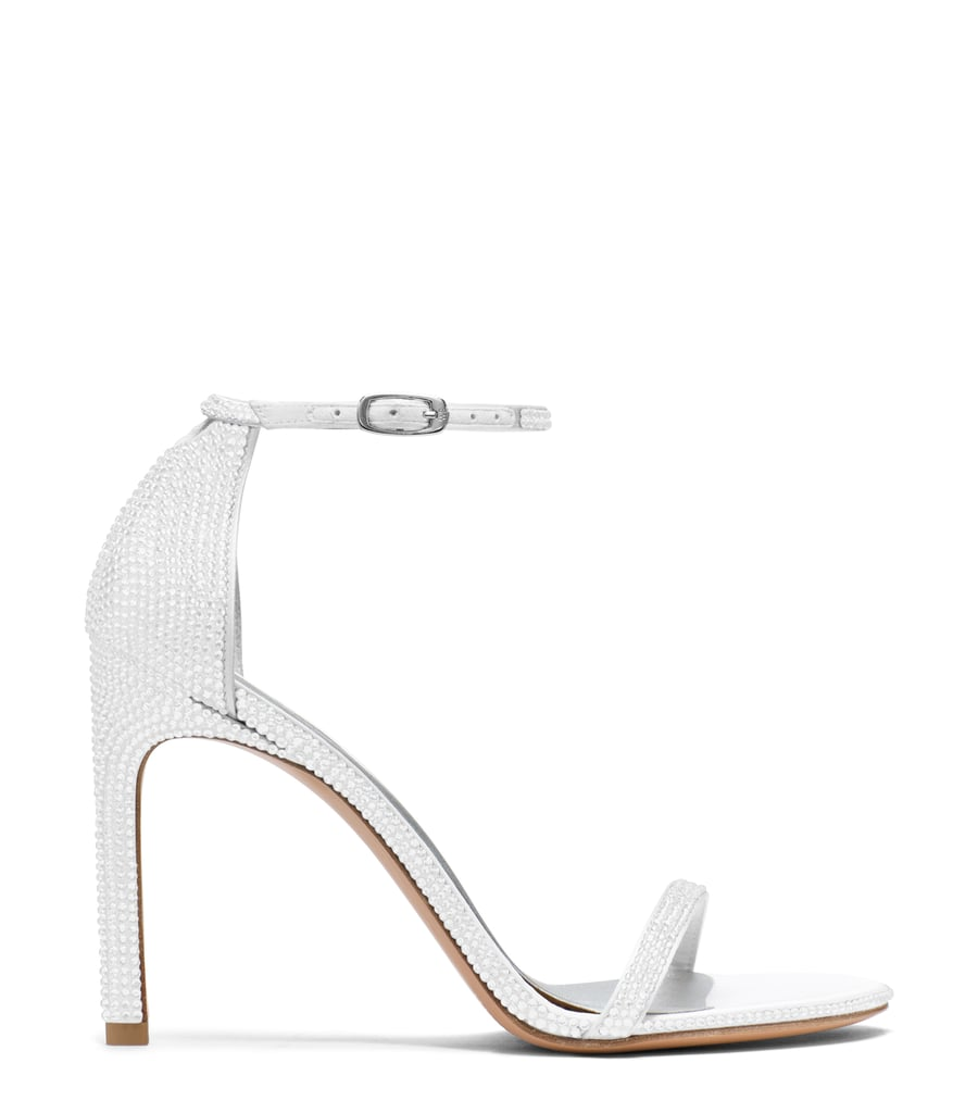 Nudistsong Sandal in Pavé Crystals Chalk White ($2,200)