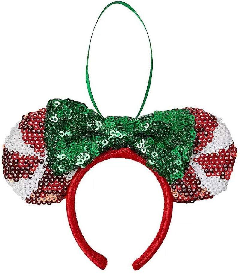 Minnie Mouse Peppermint Ear Headband Ornament