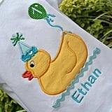 Personalized Rubber Duck Onesie