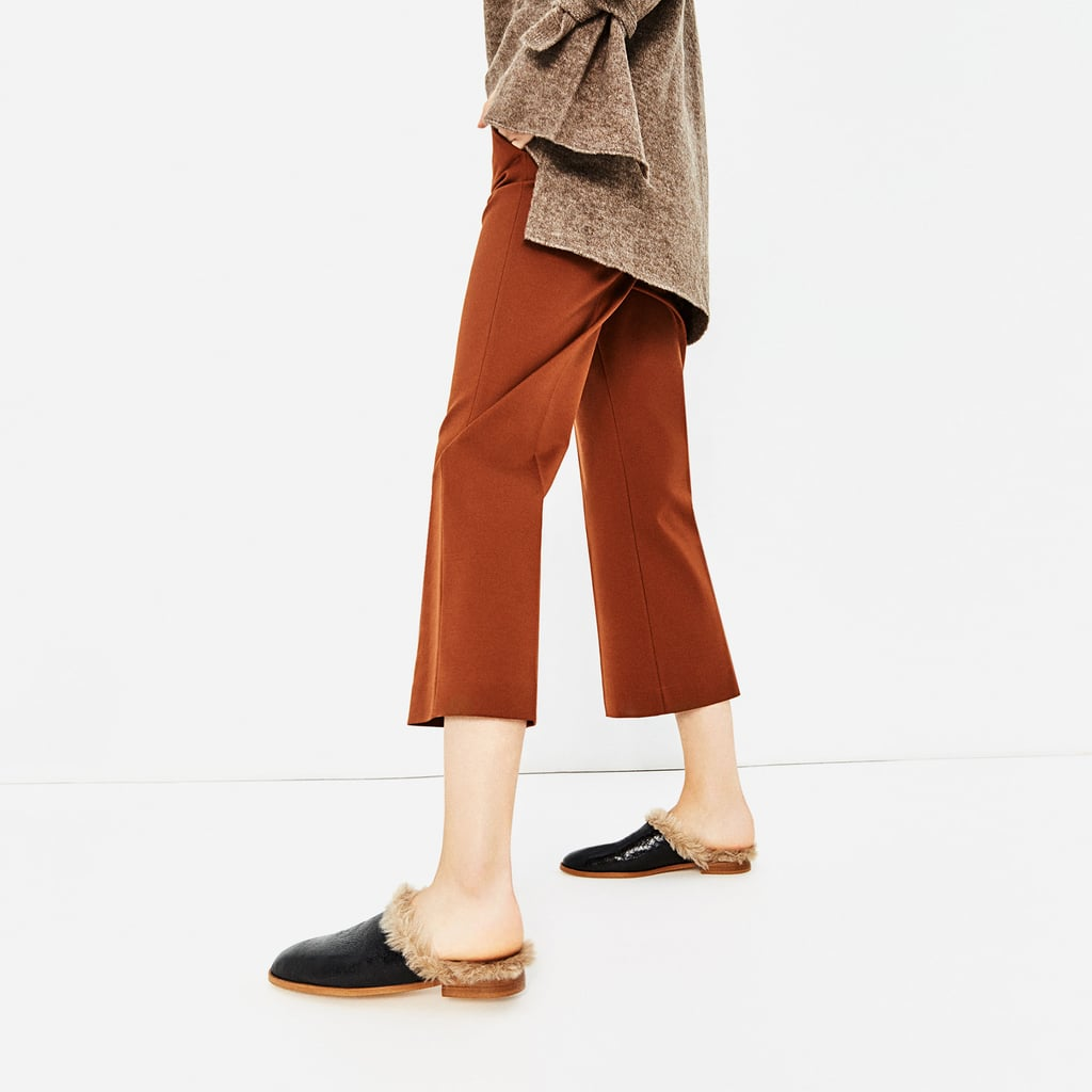 Zara Lined Leather Mules ($70)