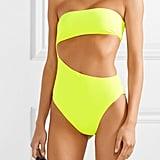 Stella McCartney Neon Yellow Cutout Bandeau Swimsuit