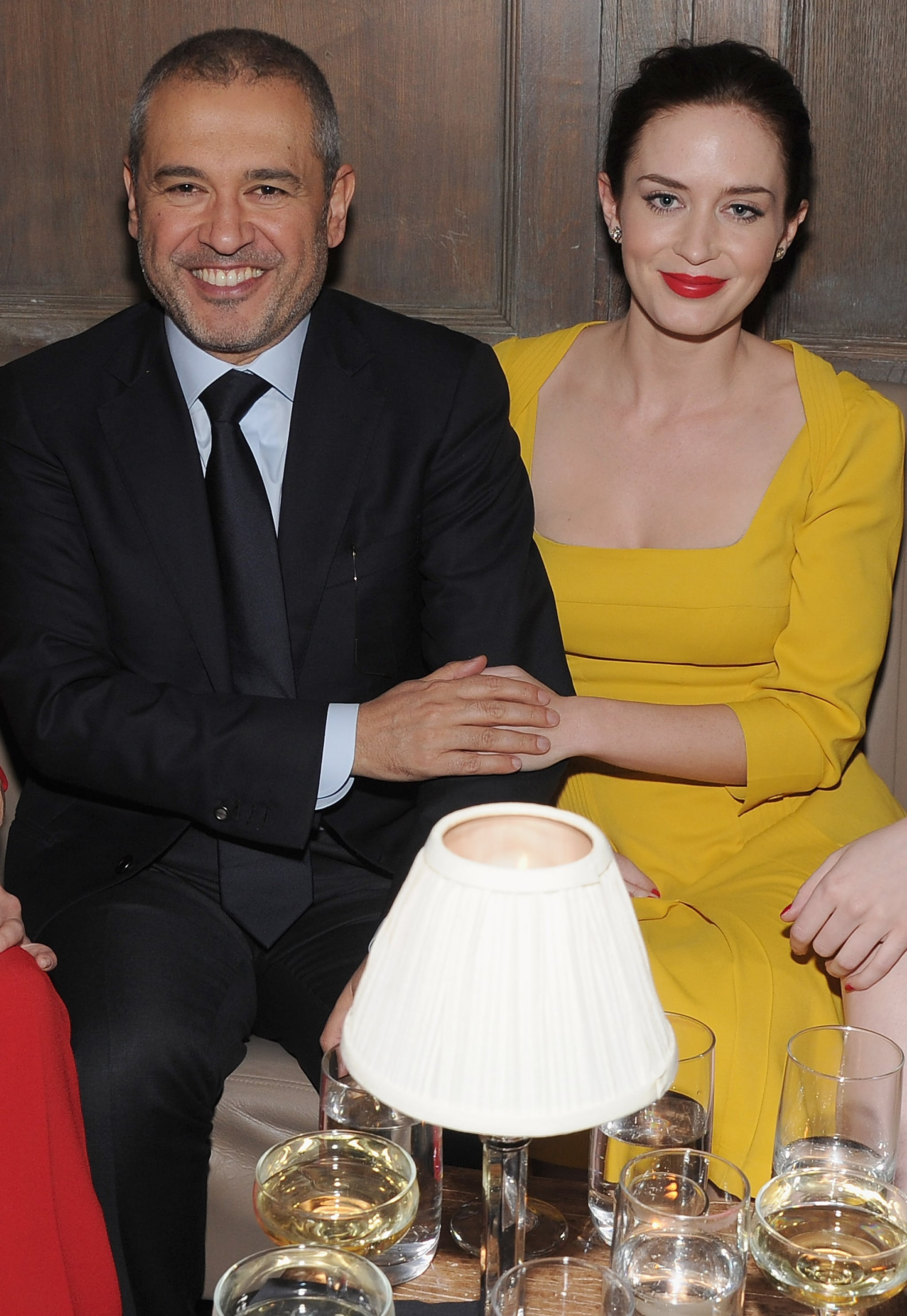 Elie Saab and Emily Blunt were happy to be together at a private dinner for Elie Saab in NYC.