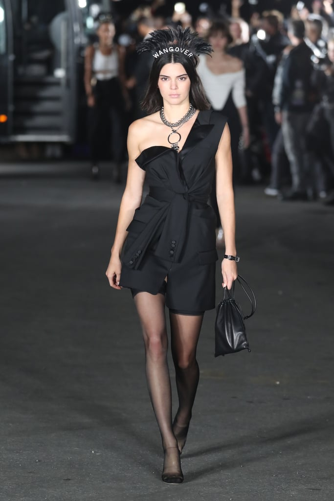 Kendall Jenner Walked the Alexander Wang Runway Wearing a Deconstructed Blazer Dress