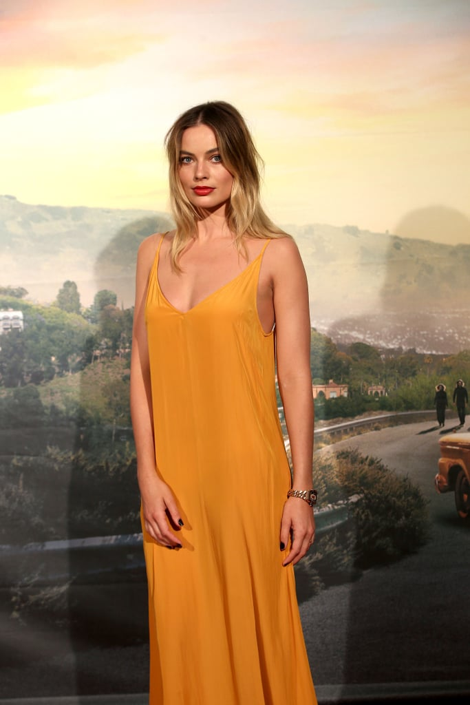 Margot Robbie at the Once Upon a Time in Hollywood premiere in Rome.