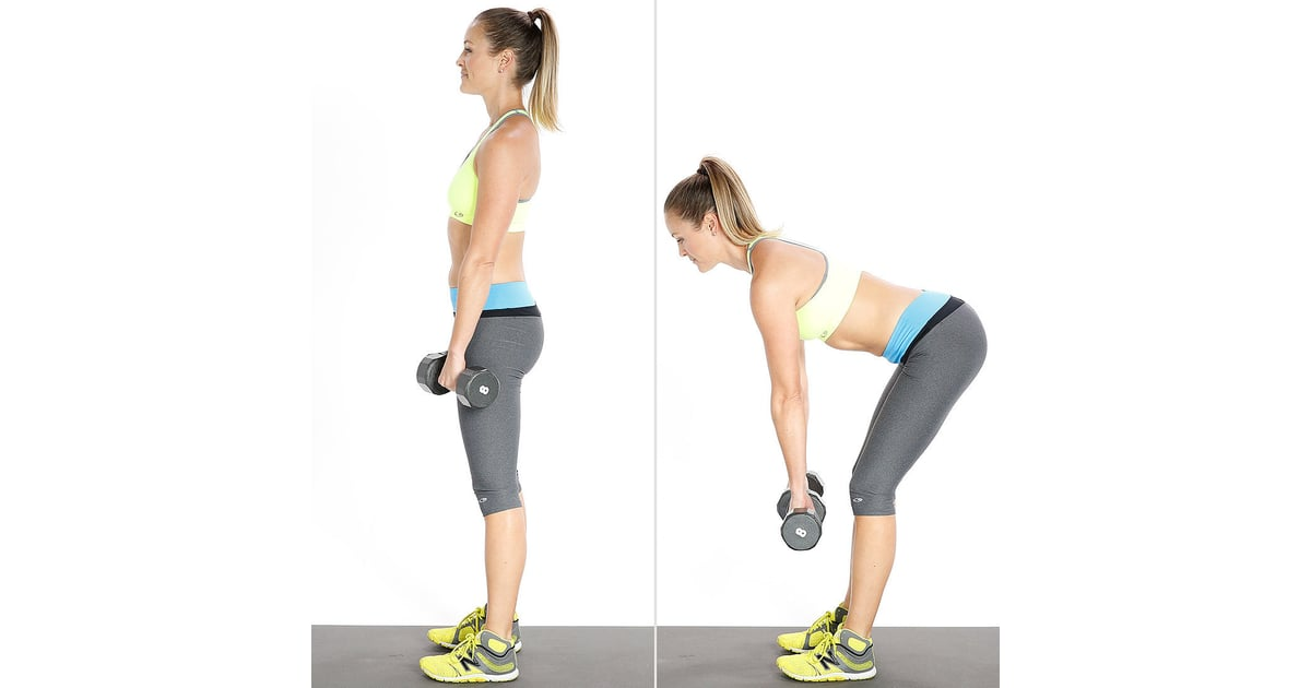 Dumbbells For Sale >> Stiff-Leg Deadlifts | Anna Victoria's Favorite Butt Exercises | POPSUGAR Fitness Australia Photo 4