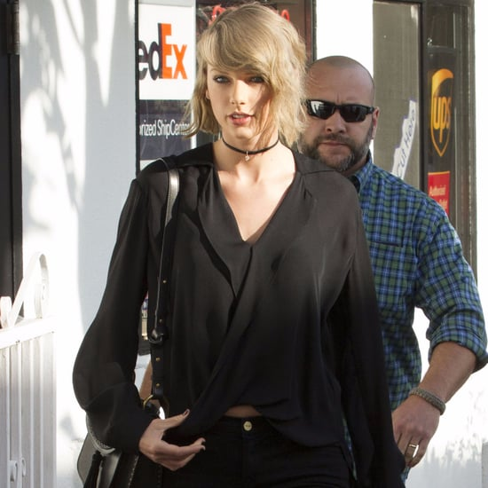 Taylor Swift Wearing a Choker Necklace April 2016