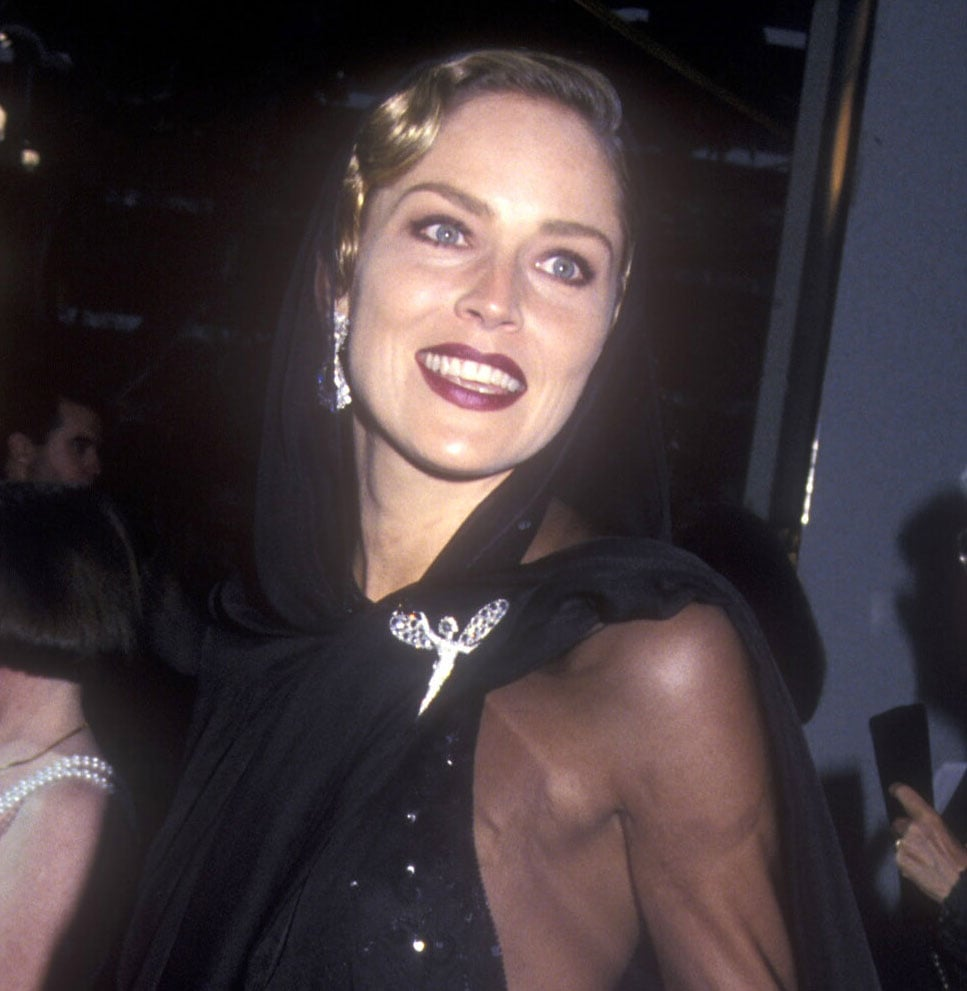 Sharon Stone 1994 Worst Oscars Hair And Beauty Popsugar Beauty Photo 10