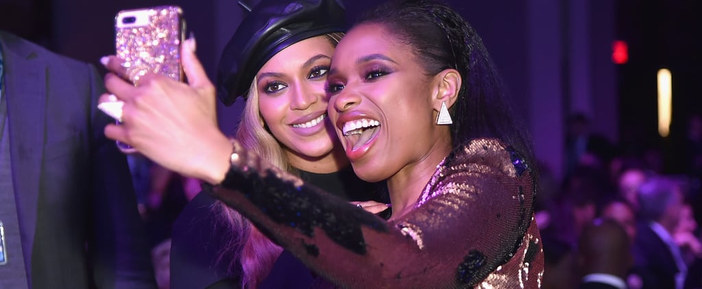 Beyoncé and Jennifer Hudson Taking a Selfie Grammy's 2018