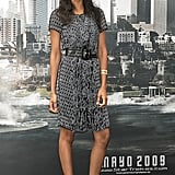 Zoe looked pretty wearing a printed dress to the Star Trek Spain premiere.