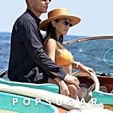 Kourtney Kardashian and Younes Bendjima in Italy June 2018
