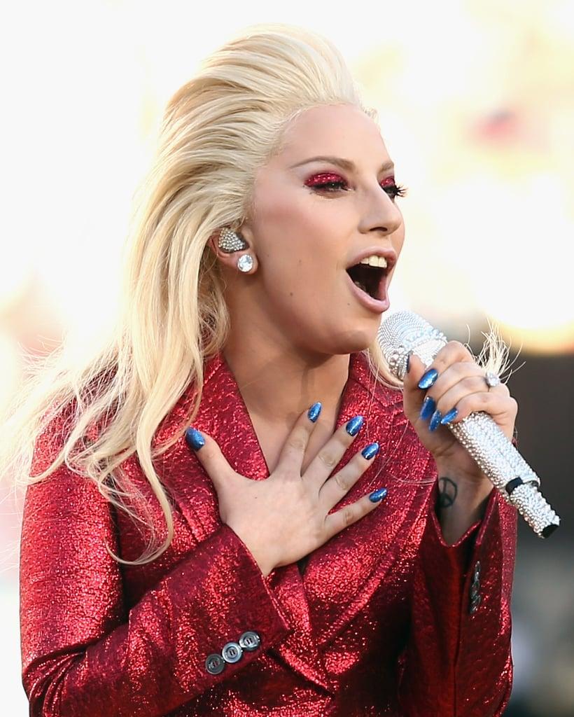 Lady Gaga Hair And Makeup Super Bowl 2016