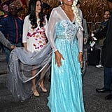Robin Roberts dressed as Frozen's Elsa in NYC in 2014.
