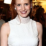 Jessica Chastain smiled for the camera.