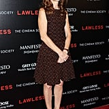Isabelle Huppert stepped onto the red carpet for the screening of Lawless in NYC.
