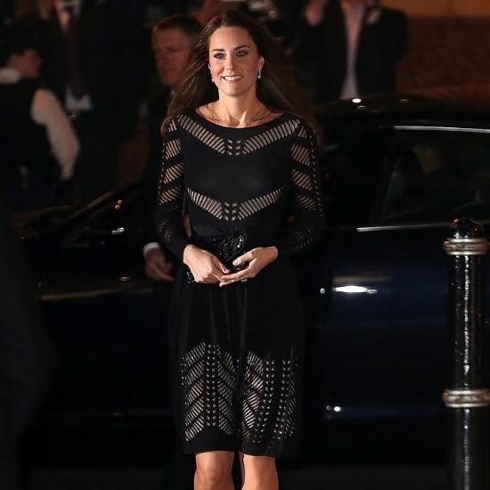 Pregnant Kate Middleton wears Black Temperley Dress