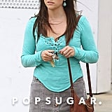 Brunette Reese Witherspoon got to work on her The Good Lie set.