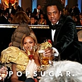 Beyoncé and JAY-Z at the 2020 Golden Globes