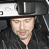 Brad Pitt Dines Out and Gets a Pre-Globes Weinstein Pick-Me-Up