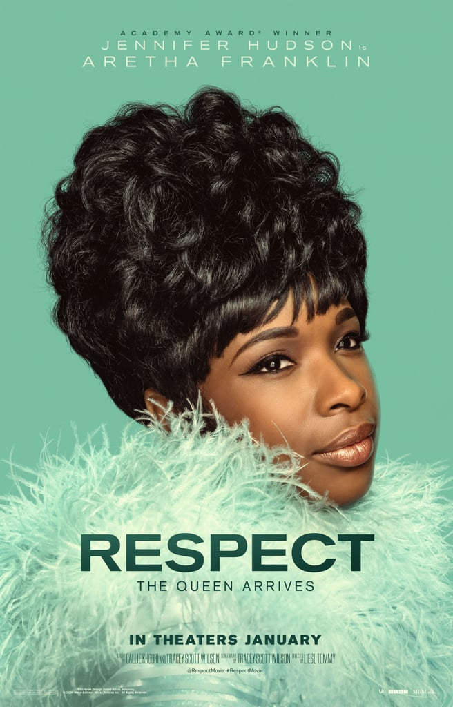 If there's such a thing as the role of a lifetime, Jennifer Hudson has landed hers. The Oscar winner is stepping into the shoes of the Queen of Soul herself, starring as Aretha Franklin in her upcoming biopic, Respect, and from the look of the following photos, she's doing a damn fine job.  Hudson — whom Franklin chose to portray her specifically during her involvement with the film before her death on Aug. 16, 2018 —  leads a star-studded cast, including Forest Whitaker, Audra McDonald, Mary J. Blige, Marc Maron, Tituss Burgess, Saycon Sengbloh, Hailey Kilgore, Tracey Scott Wilson, and Tate Donovan. The Liesl Tommy-directed flick follows the story of the legendary singer's rise to superstardom and also features Marlon Wayans playing Franklin's first husband, Ted White. We've already gotten a sneak peek at the film thanks to the teaser released during the 2019 BET Awards, and it's fair to say we're pretty excited to see the rest!  Check out the photos from the film ahead, and get ready to pay some respect when the film hits theaters on Aug. 13, 2021.       Related:                                                                                                           A Look Back at Aretha Franklin's Soulful 76 Years of Life — in Pictures