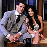 Kim Kardashian and Kris Humphries made a postwedding appearance together on The Tonight Show With Jay Leno in October 2011.