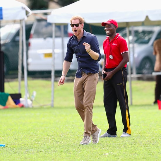 Prince Harry Playing Cricket With Kids in the Caribbean 2016