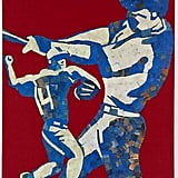 This red, white, and blue baseball wall art ($129) will add an Americana vibe to your little guy's room.