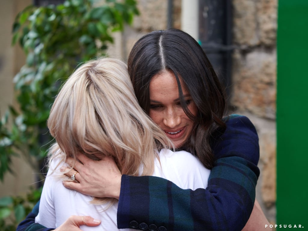 "Meghan Markle will officially become a royal when she marries Prince Harry on May 19, but she's already following in his footsteps. During the couple's visit to Edinburgh on Tuesday, Meghan broke royal protocol when she hugged Social Bite cofounder Alice Thompson. According to People, the emotional moment occurred after the charity worker told Meghan how inspired she was by the speech she gave to UN Women about female empowerment back in 2015.  While royal protocol dictates that touching shouldn't go beyond a handshake, the British royal family are no strangers to breaking the rules, especially when emotion takes over. In fact, this past June, Prince William was photographed embracing a victim of London's Grenfell Tower Fire during a visit to one of the crisis centers.  Meghan is also currently deciding on which charitable causes she'll champion once she becomes a royal. According to NBC News, the former Suits actress recently made a ""private visit"" to the Al-Manaar Muslim Cultural Heritage Centre, where she served rice. Meghan has yet to officially announce her charity patronage plans, but the causes she already supports will likely impact which organizations she chooses.      Related:                                                                                                           All the Ways Prince Harry and Meghan Markle's Wedding Will Break Royal Tradition"