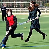 Kate played field hockey at her alma mater St Andrew's School.