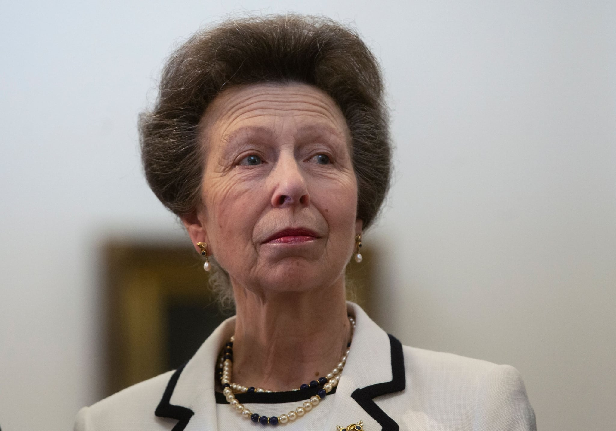 Britain's Princess Anne, visits Chilean President Sebastian Pinera (out of frame) at La Moneda Presidential Palace in Santiago on November 28, 2018. - Princess Anne arrived in Santiago for a five-day visit for the celebrations of the bicentennial of the Chilean Navy. (Photo by CLAUDIO REYES / AFP)        (Photo credit should read CLAUDIO REYES/AFP/Getty Images)