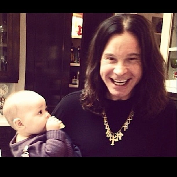 Ozzy Osbourne spent New Year's Eve with his granddaughter, Pearl. Source: Twitter user OfficialOzzy