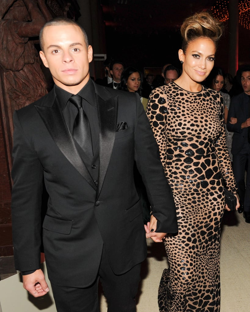 Casper Smart held Jennifer Lopez's hand inside the Met Gala in NYC.  Source: Billy Farrell/BFANYC.com