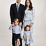 Kate Middleton Matched Her Family in Blue For the Christmas Card