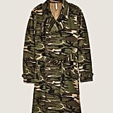 Zara Camouflage Trench Coat