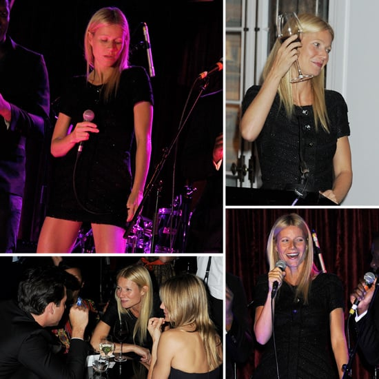 Gwyneth Paltrow Singing Pictures at London Arts Club
