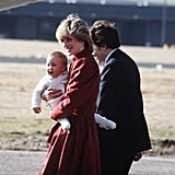 Prince William sported stockings (not shoes!) while visiting Scotland with his parents in 1983.