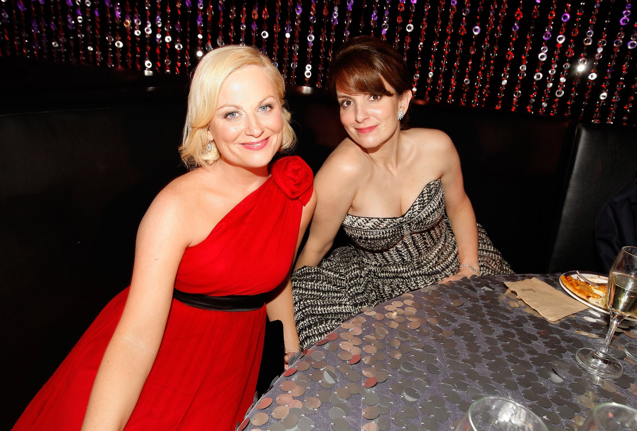 Amy and Tina sat together at a Golden Globes afterparty in 2010.