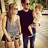"Hilary Duff and Mike Comrie reunited for a ""modern family vacation"" with their son, Luca. Source: Instagram user hilaryduff"