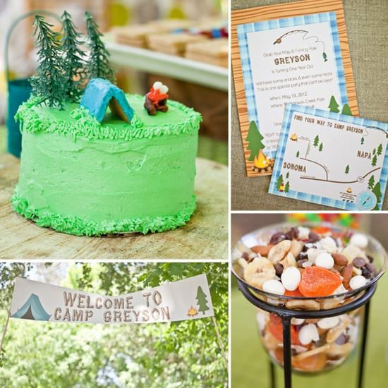 A Cute, Camping-Inspired First Birthday Party