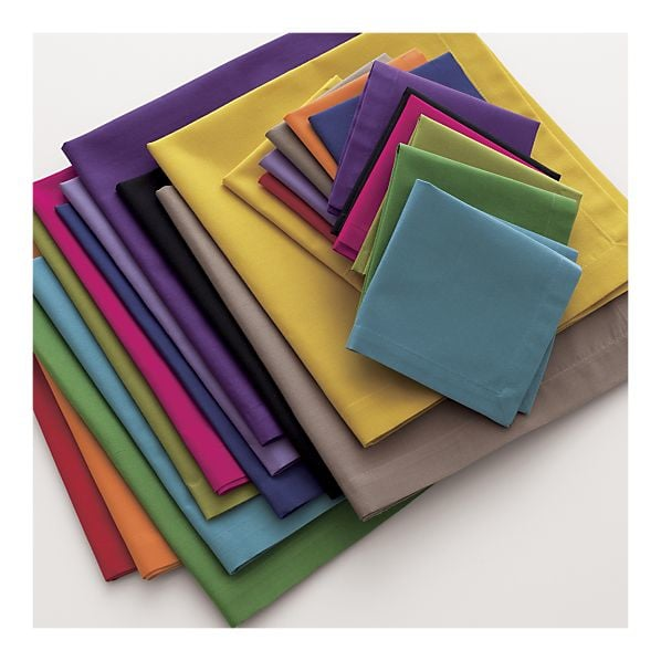 Go for an extracolorful layout with this Multicolored Cocktail Napkin Set ($25 for 12).