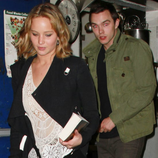 Jennifer Lawrence and Nicholas Hoult Having Dinner in LA