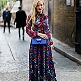 Dress it Down with Lace Up Trainers and a Bright Bag