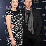 Emily Blunt and Ewan McGregor posed for photos.